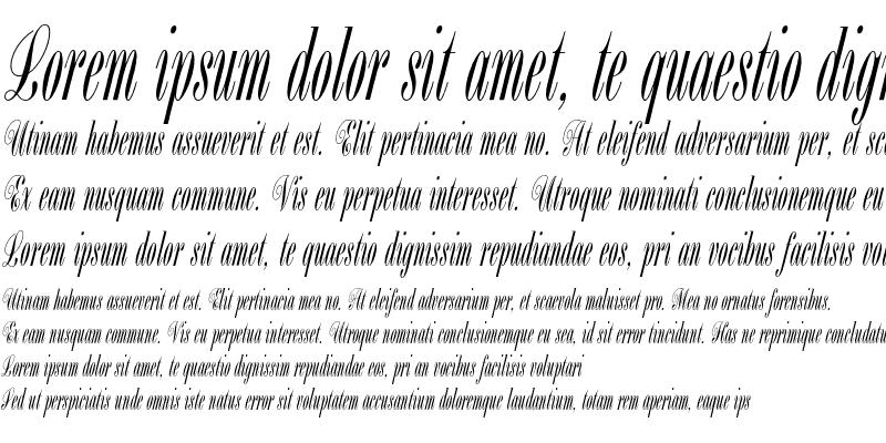 Sample of Bordeaux Script Plain