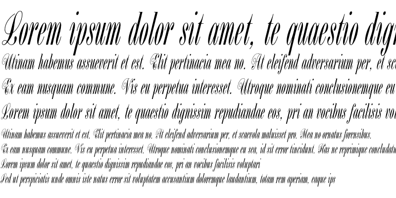 Sample of Bordeaux Script Plain Regular