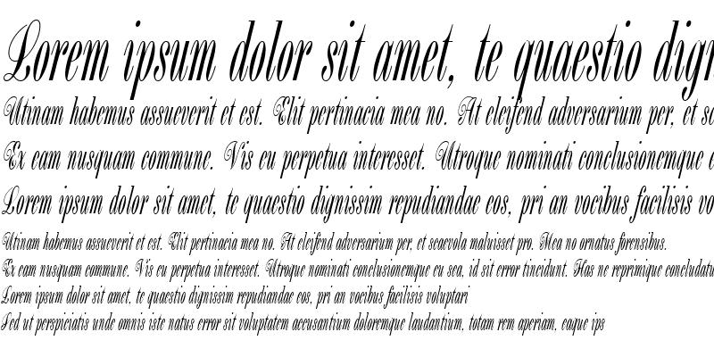 Sample of Bordeaux Script