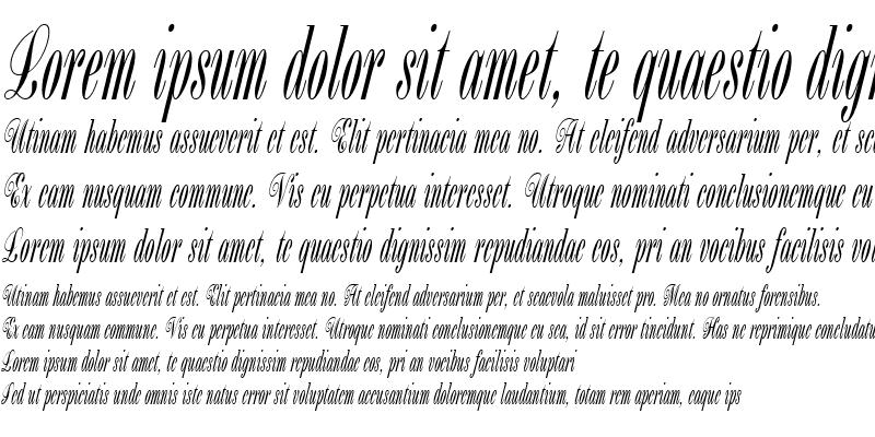 Sample of BordeauxScript Plain