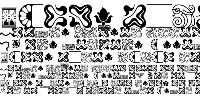 Sample of Borders Ornaments P03