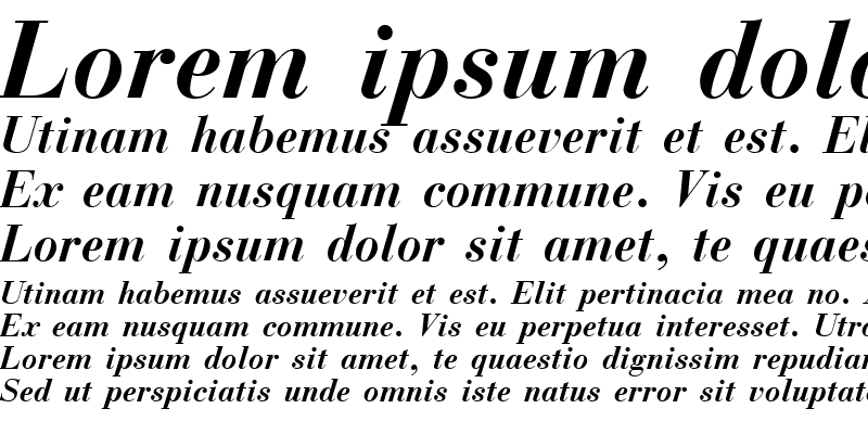Sample of Boston Bold Italic