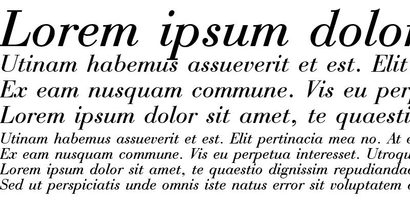 Sample of Boston Italic