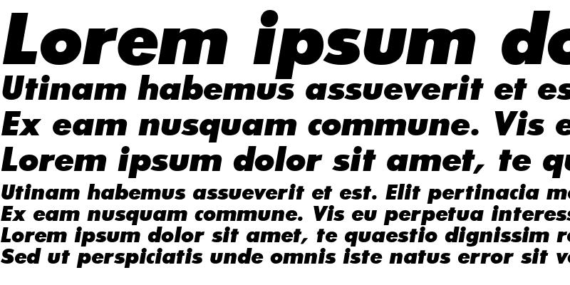 Sample of Bougan Black SSi Extra Bold Italic