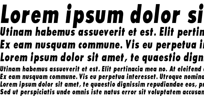 Sample of BouganBlackCondSSK Bold Italic