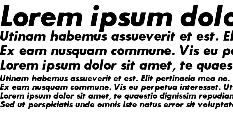 Sample of BouganBlackSSK Bold Italic