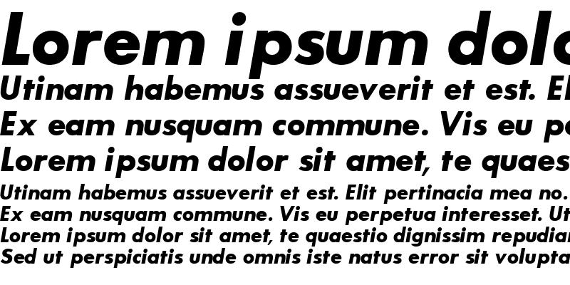 Sample of BouganBlackSSK Italic