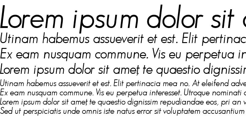 Sample of BouganBookSSK Italic
