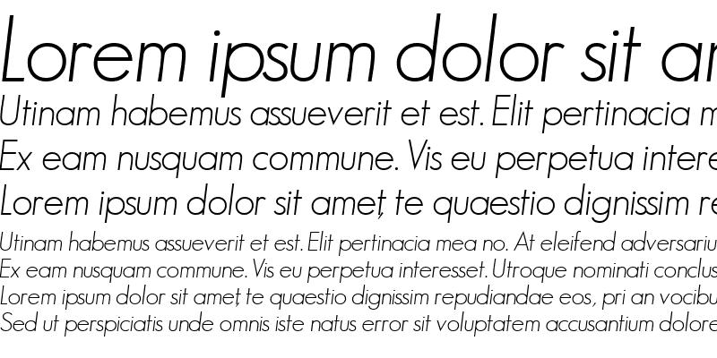 Sample of BouganSSK Italic