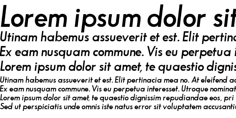 Sample of BouganSSK SemiBoldItalic