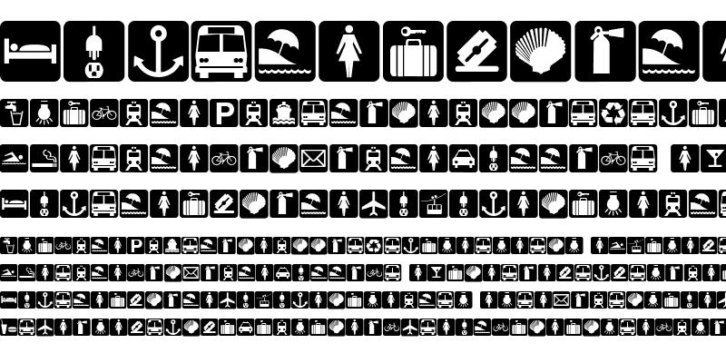 Sample of BOUTON International Symbols Regular