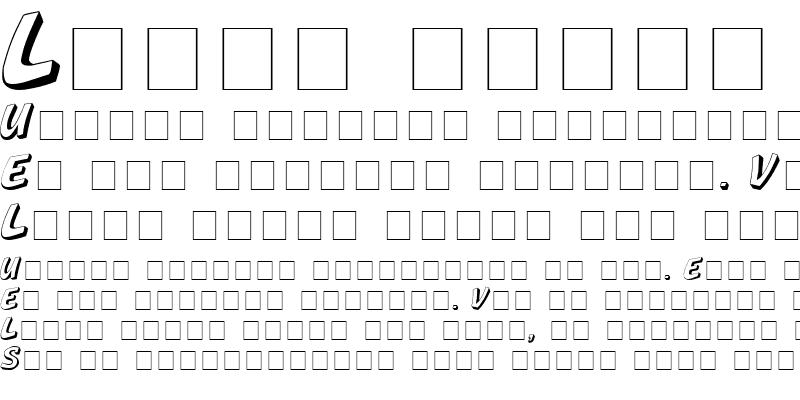 Sample of Boya Display Caps SSi Regular