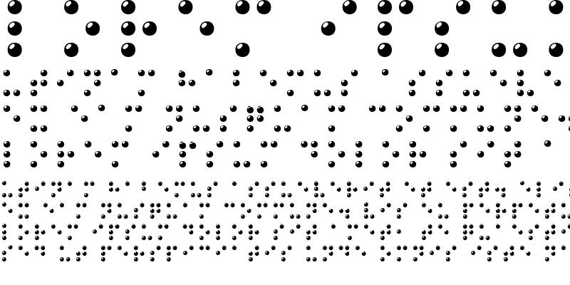 Sample of Braille 3D Regular