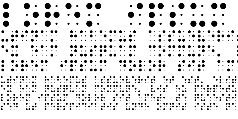 Sample of BRAILLE