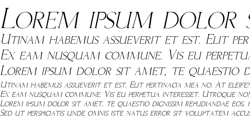 Sample of Brice Italic