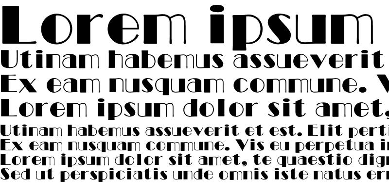 Sample of Broadway Font