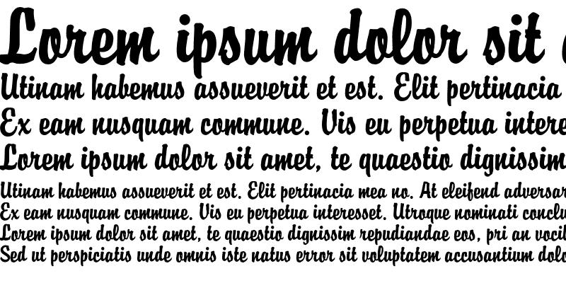 Sample of Brody Font Regular