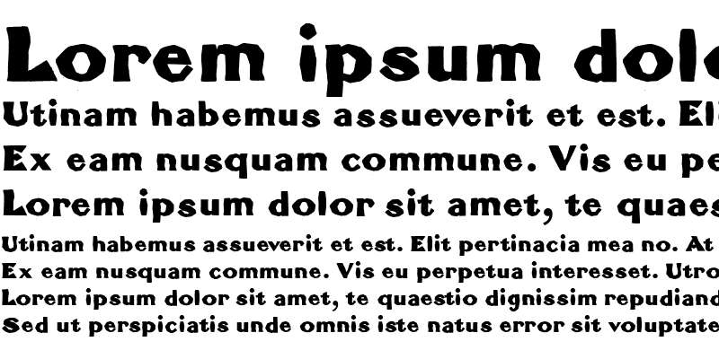 Sample of BrokenRoman Bold