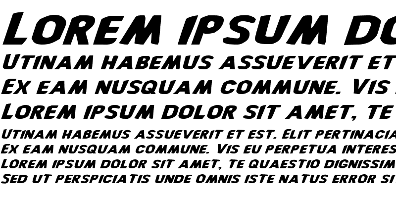 Sample of Bronic Expanded Italic