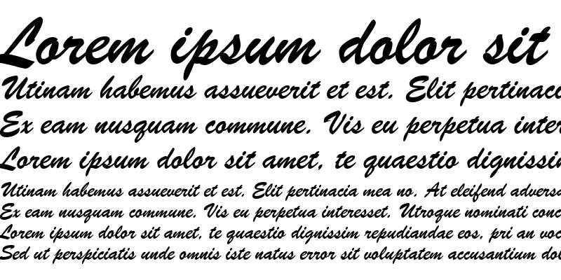 Sample of BrushScript BT