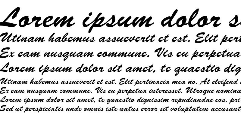Sample of BrushScriptEF