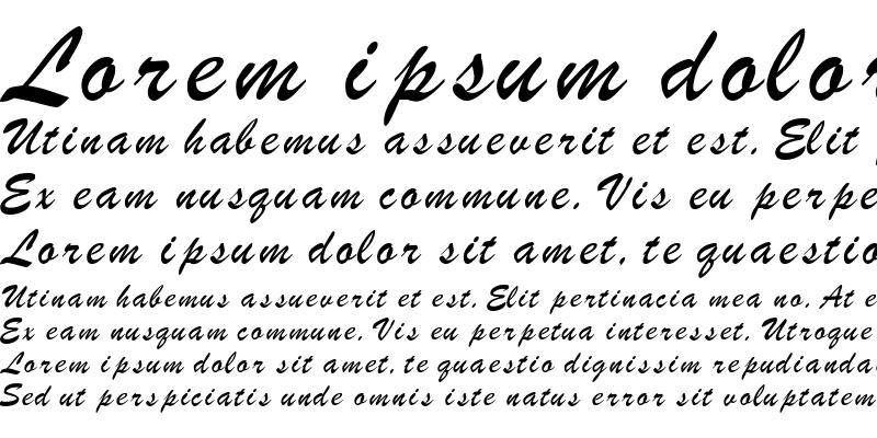 Sample of BrushScriptSW