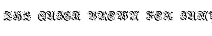 Preview of BrusselsTitlingCaps Regular
