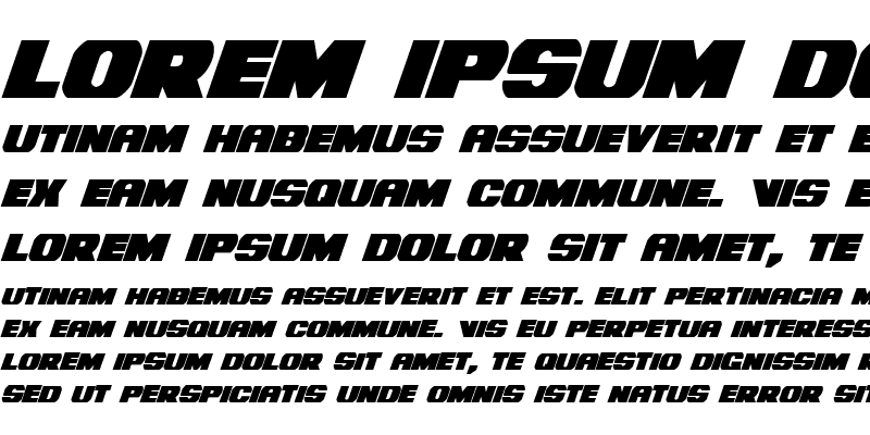 Sample of Bummer Condensed Italic