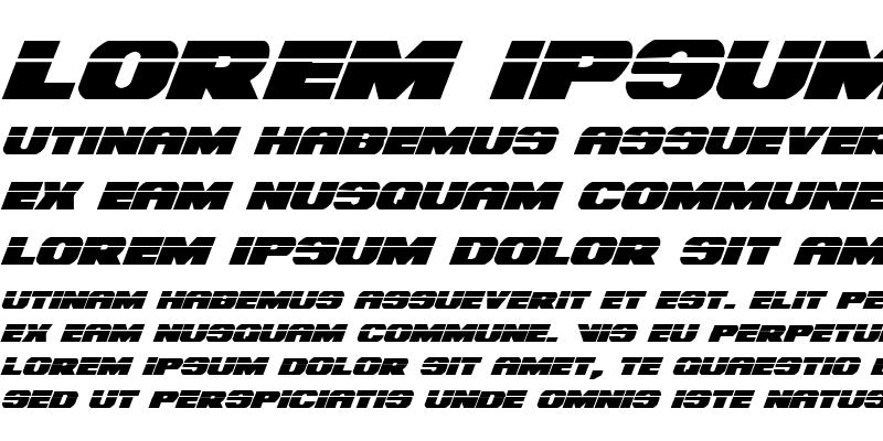 Sample of Bummer Laser Italic