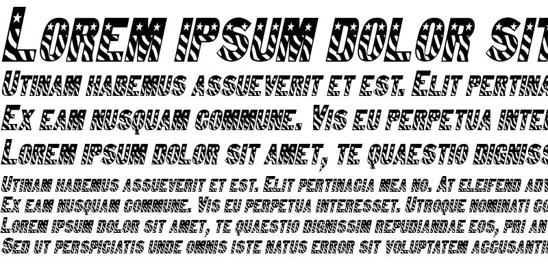 Sample of Bunting 1-Condensed Italic