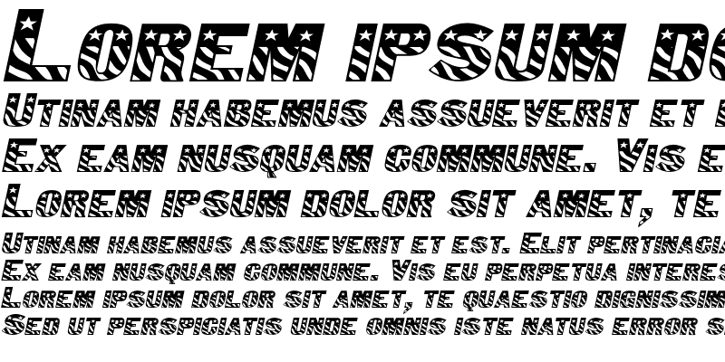 Sample of Bunting 1-Extended Italic