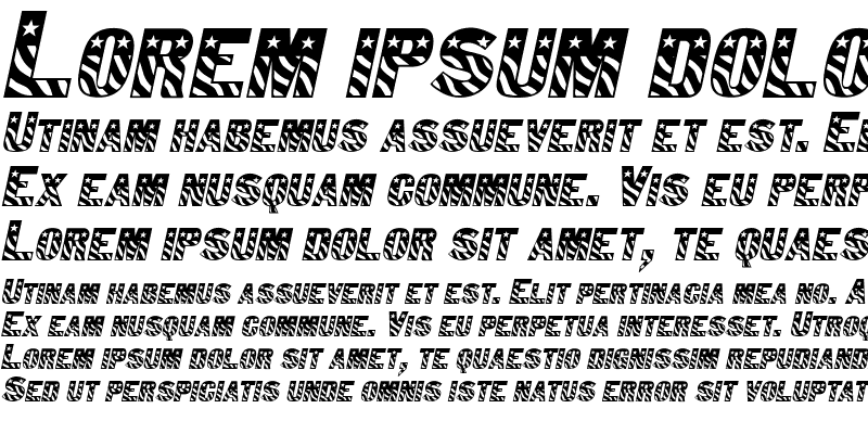 Sample of Bunting 1 Italic