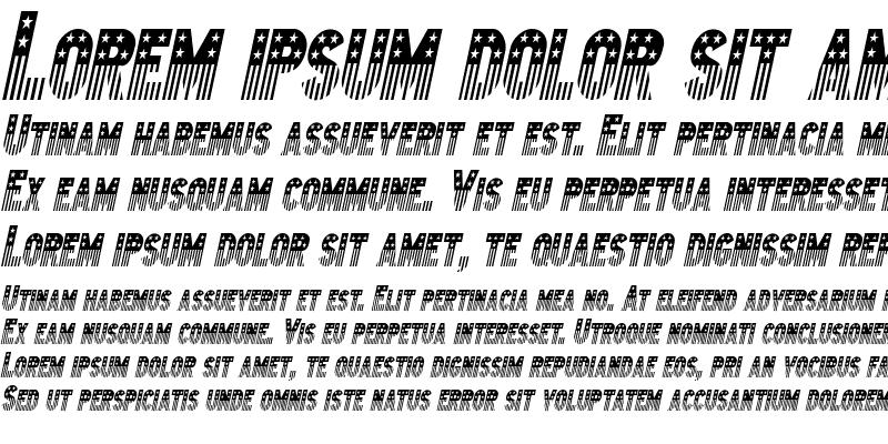 Sample of Bunting 2-Condensed Italic