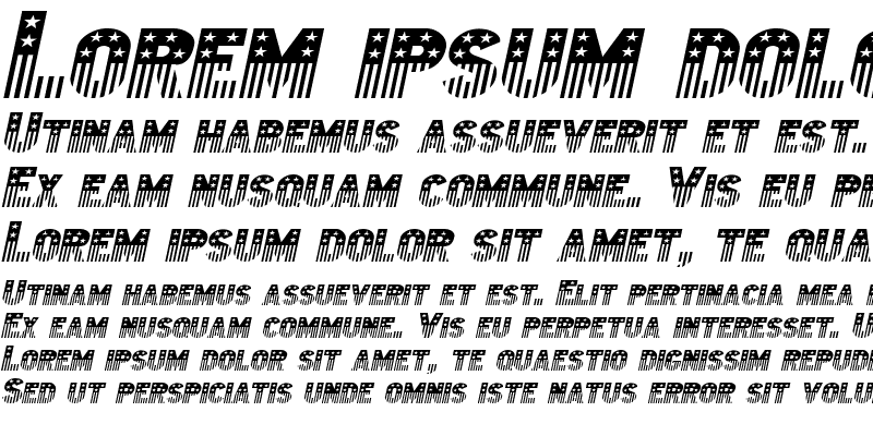 Sample of Bunting 2-Extended Italic