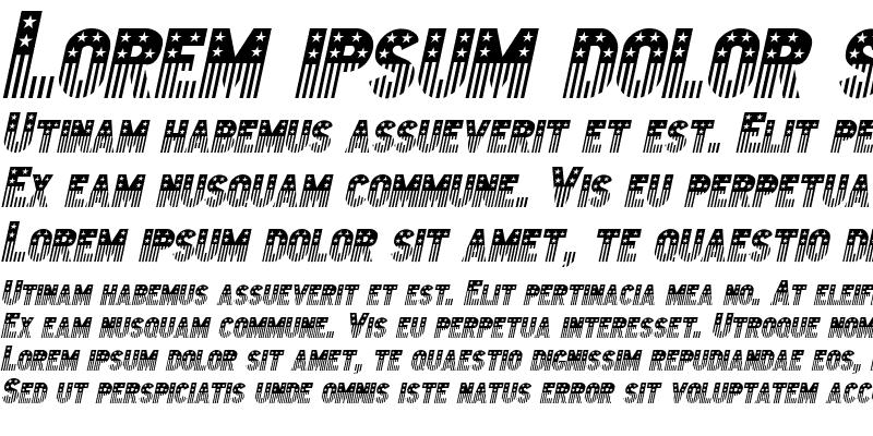 Sample of Bunting 2 Italic