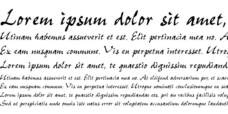 Sample of CaimanScriptSSK Regular