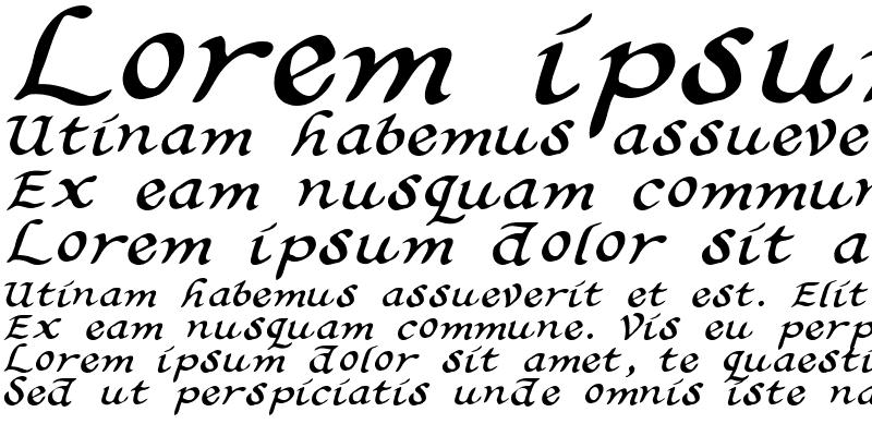 Sample of Calligrapher 2