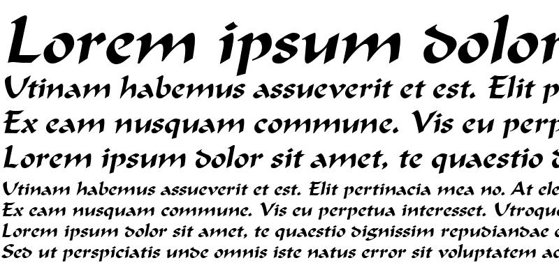 Sample of Calligrapher Italic