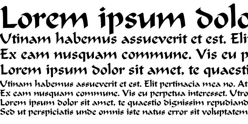 Sample of Calligrapher