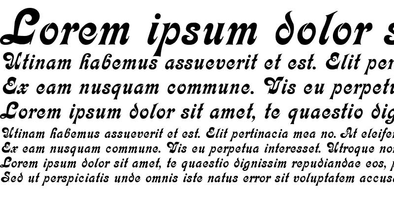 Sample of Calligraphia DB Medium
