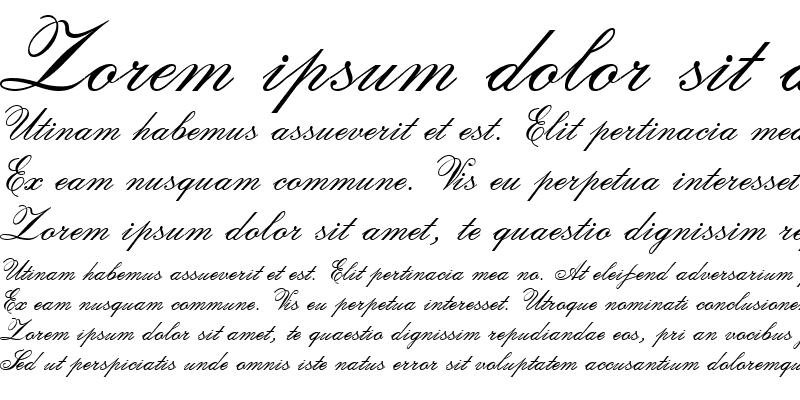 Sample of Calligraphia Two