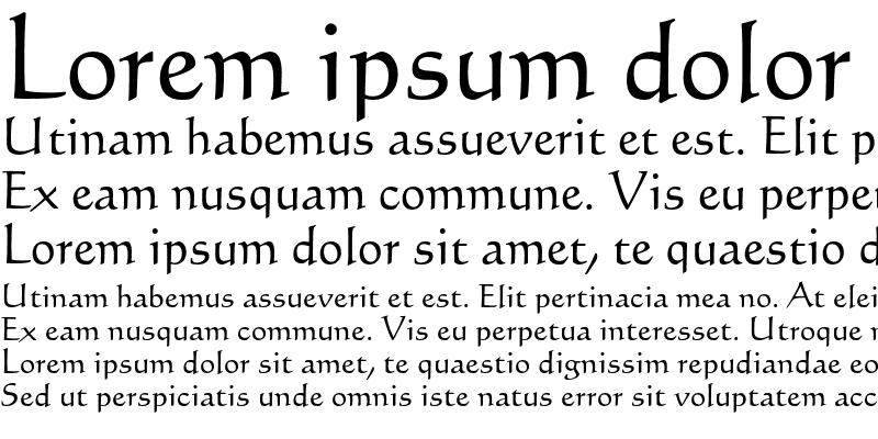Sample of Calligraphic 421