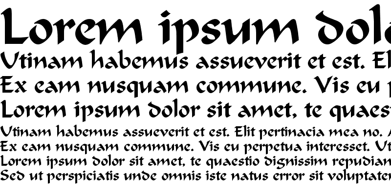 Sample of Calligraphic Regular