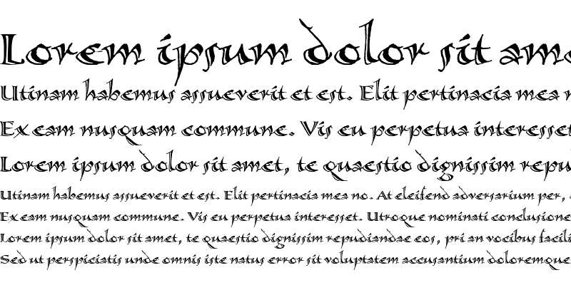 Sample of Calligraphica