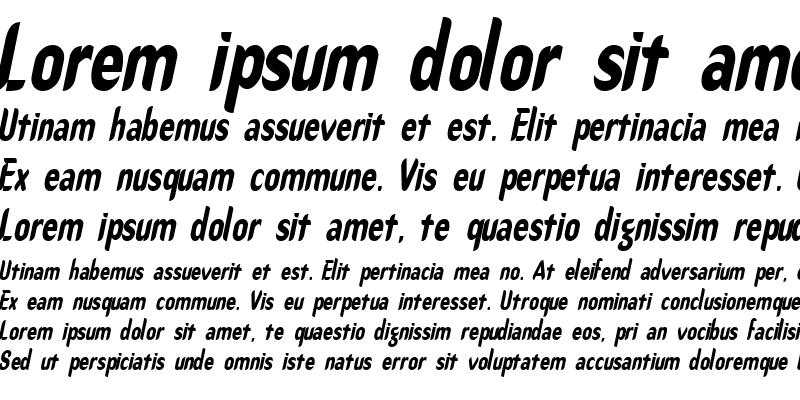 Sample of Callimarker-Condensed Italic