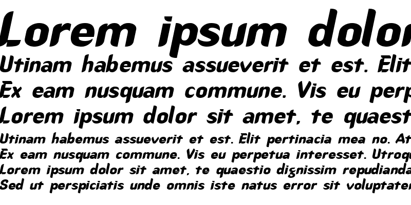 Sample of Callimarker-Extended Italic