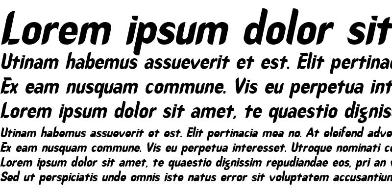 Sample of Callimarker Italic