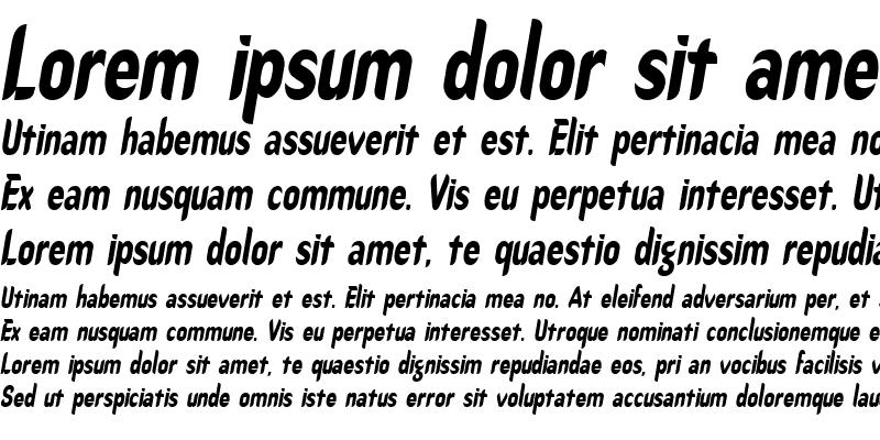 Sample of CallimarkerCondensed Italic