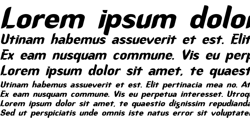 Sample of CallimarkerExtended Italic