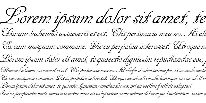 Sample of Cancellaresca Script LET